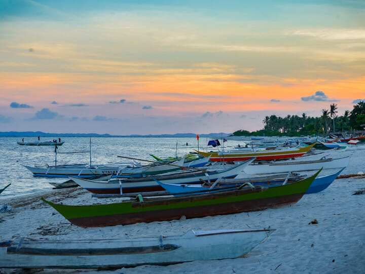 Sibolo Island sunset in Caluya, Antique, Philippines