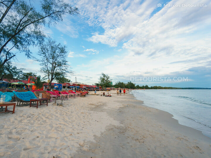 Ochheuteal Beach in Sihanoukville, Cambodia