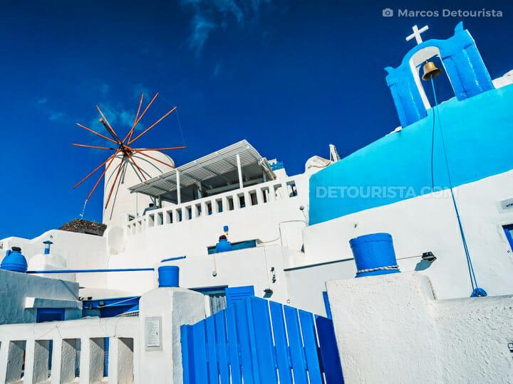 Sunset Windmills, Santorini