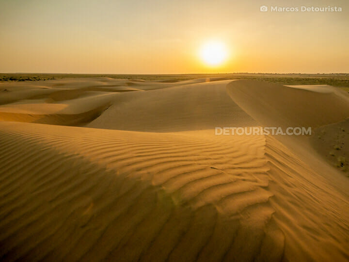 Thar Desert sunset view, Jaisalmer