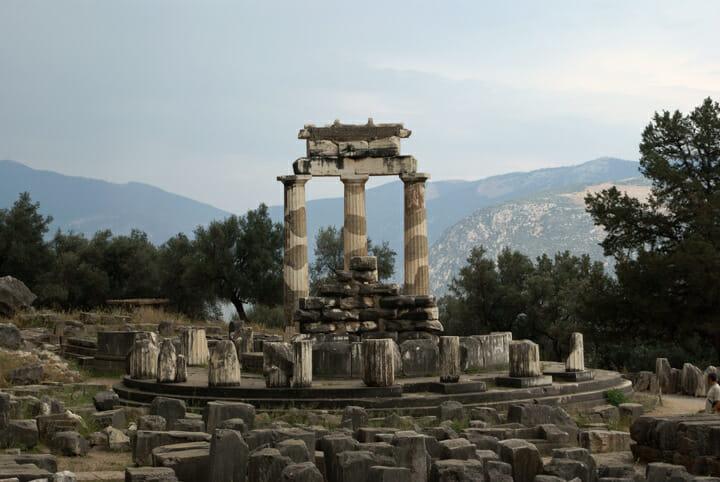 Tholos of Delphi at the Sanctuary of Athena Pronaia in Delphi, Greece