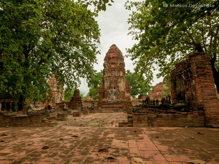 Wat Maha That in Ayutthaya, Thailand