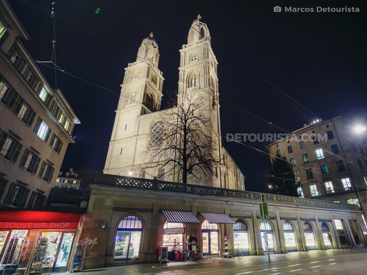 Great Minister Church (Grossmünster) in Zurich, Switzerland