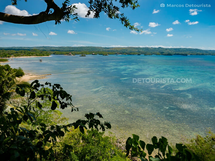 Hilltop view from Nature's Eye Beach Resort