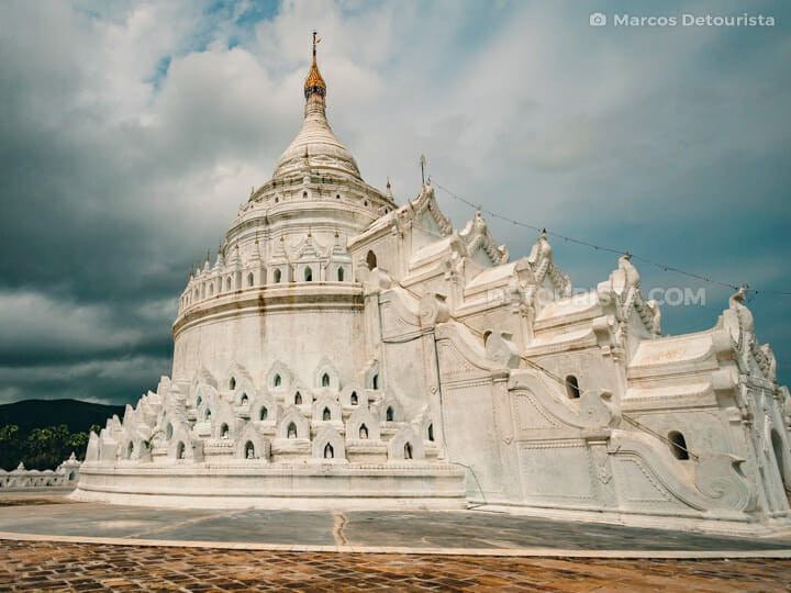 Hsinbyume Pagoda in Mingun, Greater Mandalay, Myanmar