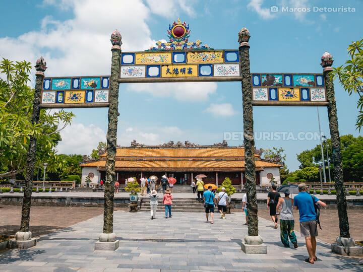 Dien Thai Hoa (palace) in Hue Imperial City (Forbidden Purple City), Vietnam