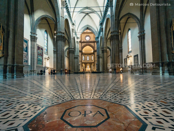 Inside the Florence Cathedral (Duomo)