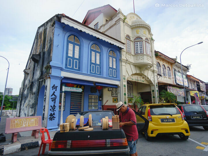 Ipoh Old Town shophouses, in Ipoh, Malaysia