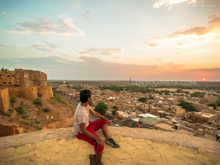 Marcos at Jaisalmer Fort sunset view