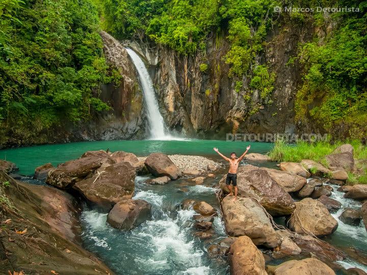 Marcos at Tinago Falls in Caibiran, Biliran, Philippines