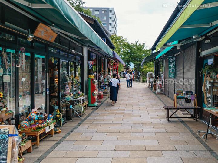 Nawate Street (Nawate-dori) in Matsumoto, Nagano, Japan