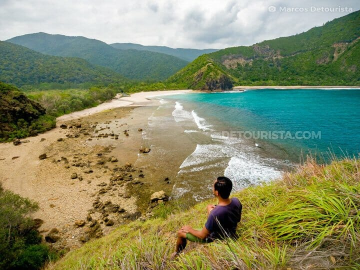 Marcos at Discalarin Cove, in Baler, Aurora, Philippines
