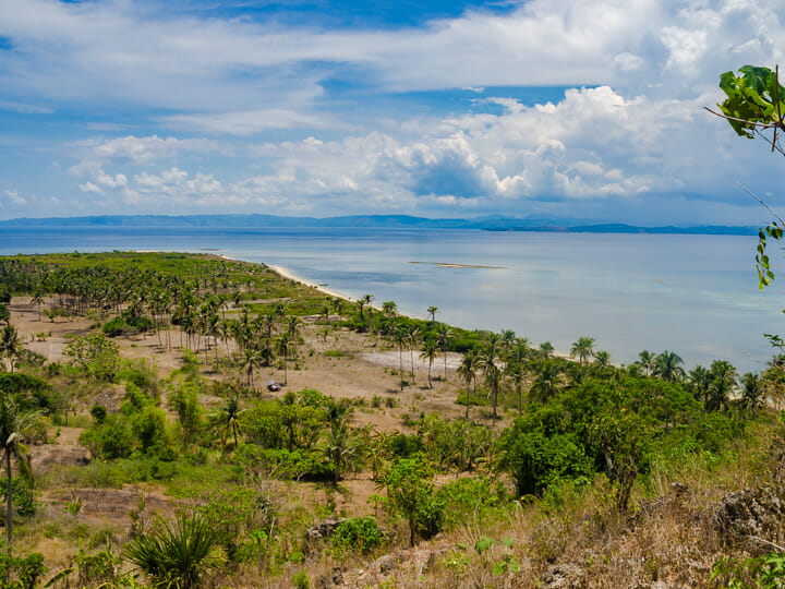 Overlooking Liwagao and Mindoro Island