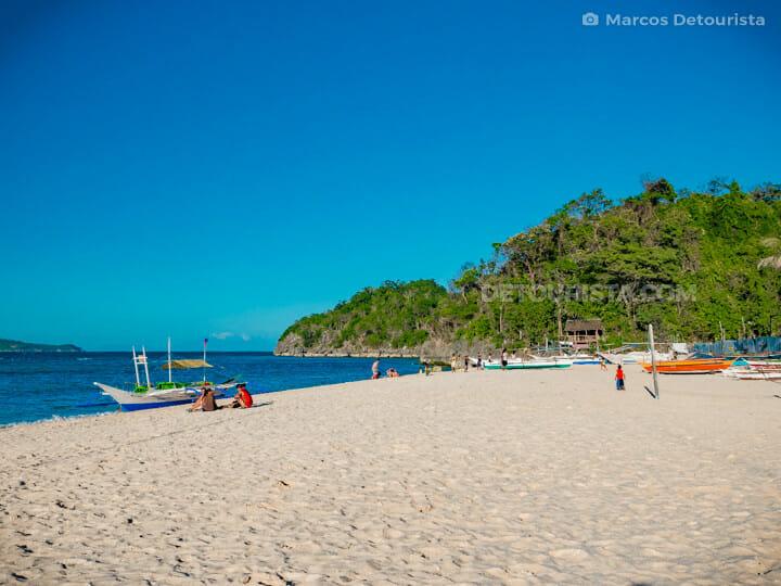 Puka Beach, in Boracay Island, Malay, Aklan, Philippines