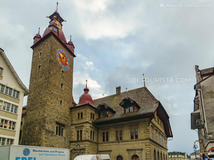 Rathaus (City Hall) in Lucerne Old Town, Switzerland