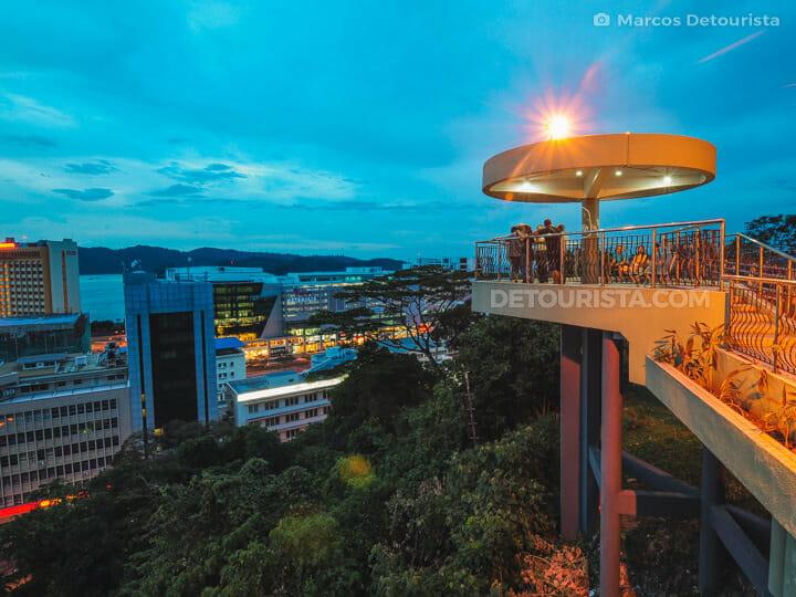 Signal Hill dusk view, in Kota Kinabalu, Sabah, Malaysia