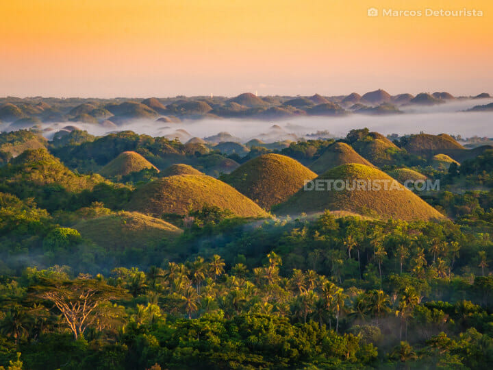 Sunrise at Bohol Chocolate Hills