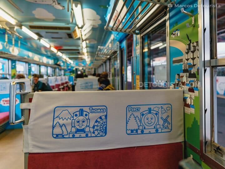 Thomas & Friends-themed train in Mt. Fuji Station, Yamanashi, Ja