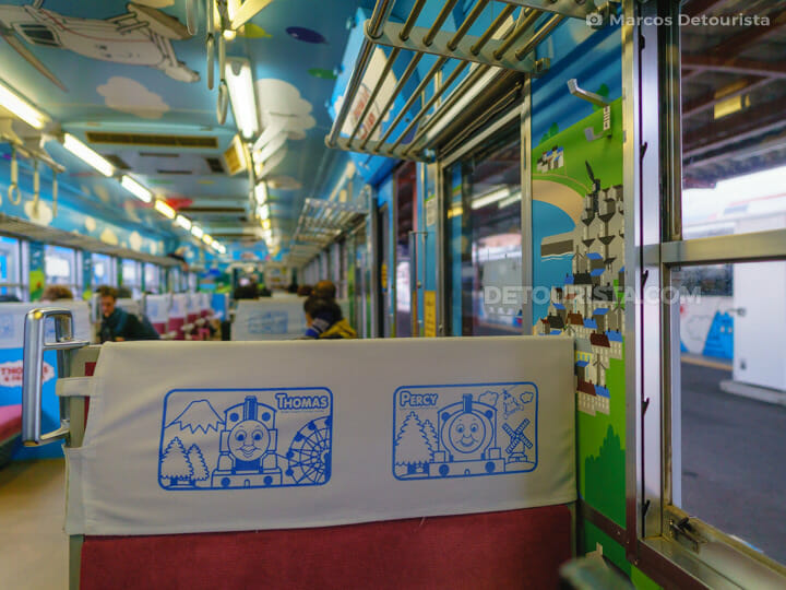 Thomas & Friends-themed train in Mt. Fuji Station, Yamanashi, Ja