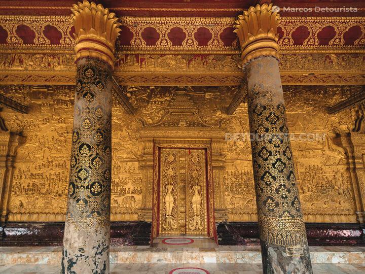 Wat Mai Souvanhphoumaram (temple), in Luang Prabang, Laos