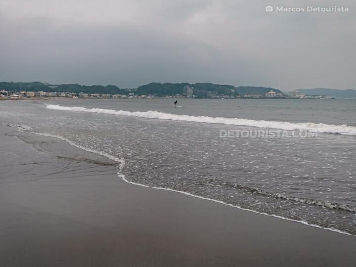 Yuigahama Beach in Kamakura, Japan