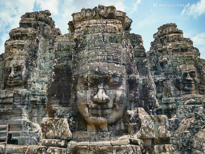 Buddha faces at Bayon Temple in Siem Reap, Cambodia