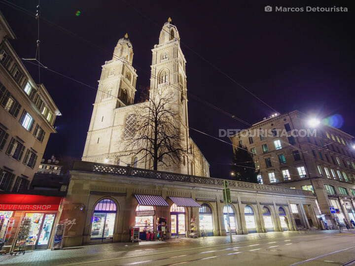 Grossmünster (Great Minister Church) in Zurich, Switzerland
