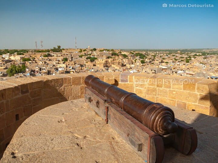 Jaisalmer Fort Cannon Point And City View