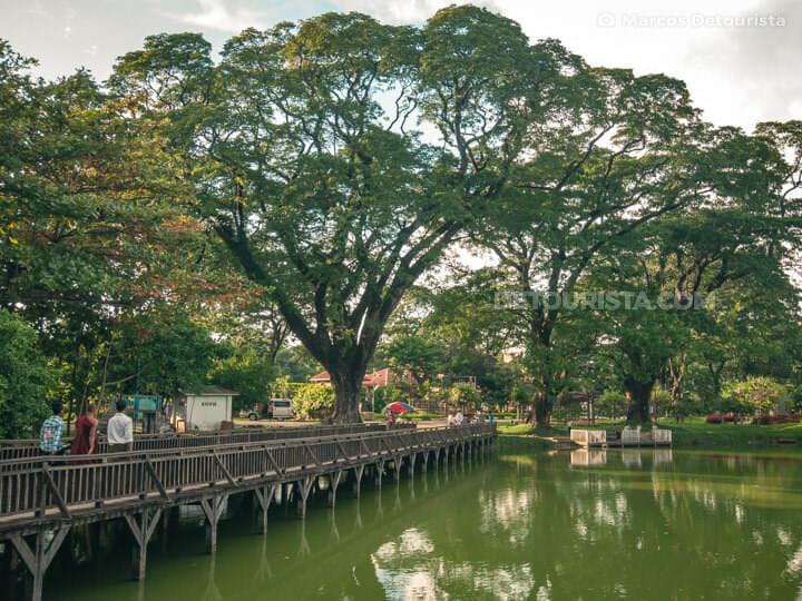 Kandawgyi Lake in Yangon, Myanmar