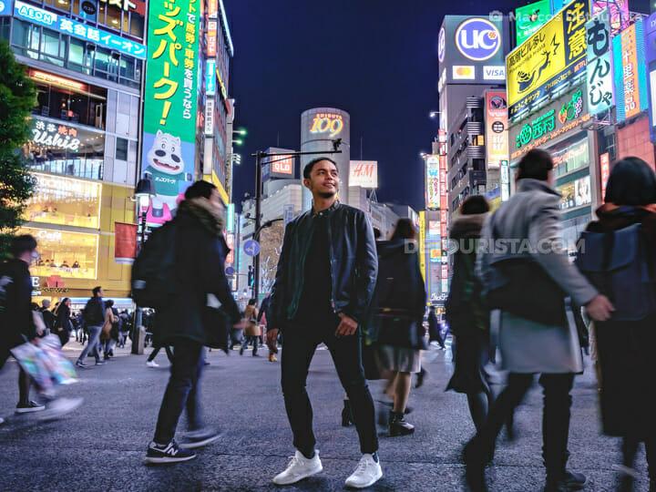Marcos at Shibuya Crossing, Tokyo