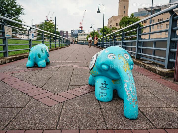 Elephant Nose Park (Zounohana Park) in Yokohama, Japan