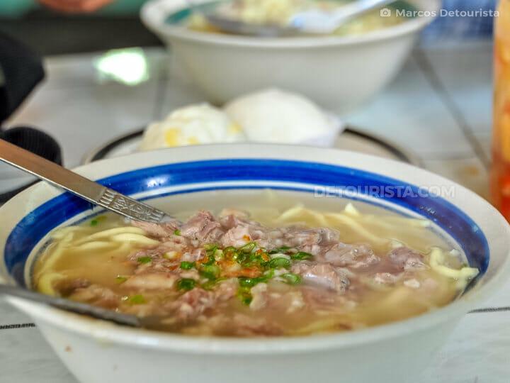Kinalas noodle soup, Camarines Norte