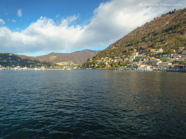 Lake Como in Lombardy, Italy