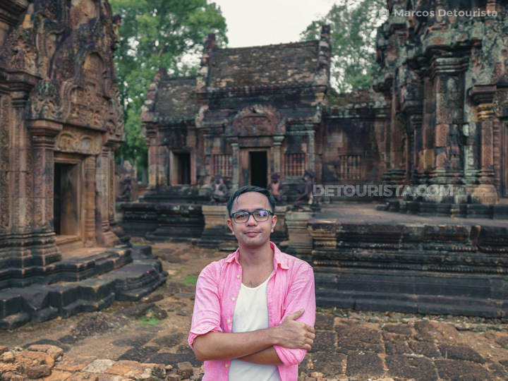 Marcos at Banteay Srei (temple) in Siem Reap, Cambodia