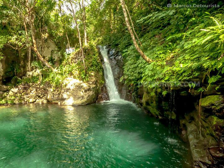Recoletos Waterfall in Almeria, Biliran, Philippines