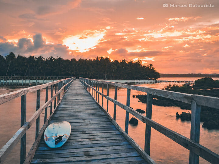 Sunset at Cloud 9 Boardwalk, Siargao Island