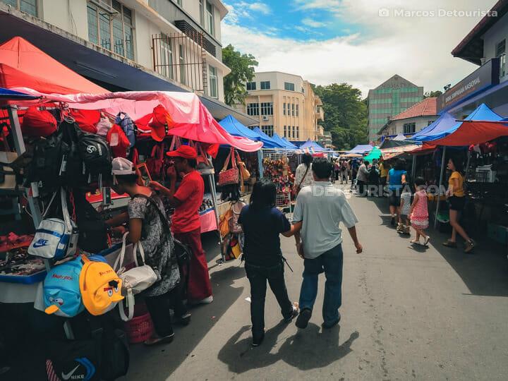 Gaya Street Sunday Market in Kota Kinabalu, Sabah, Malaysia