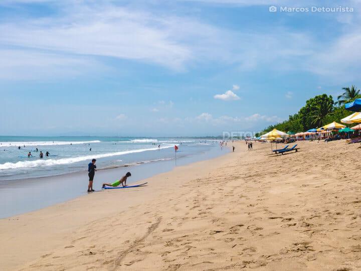 Kuta Beach in Kuta, Bali, Indonesia