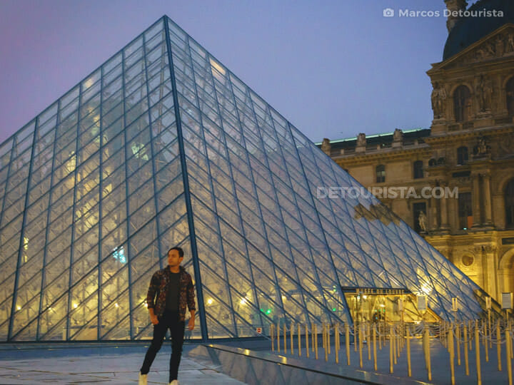 Louvre Pyramid in Paris, France