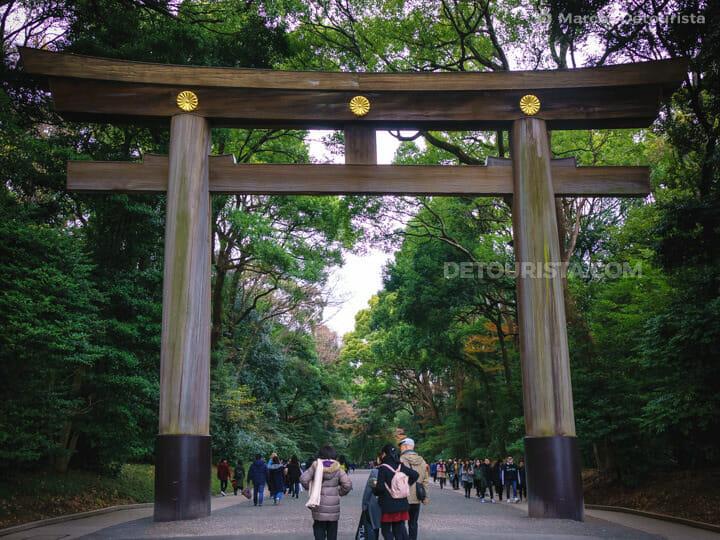 Meiji Jingu Shrine, in Harajuku, Tokyo, Japan