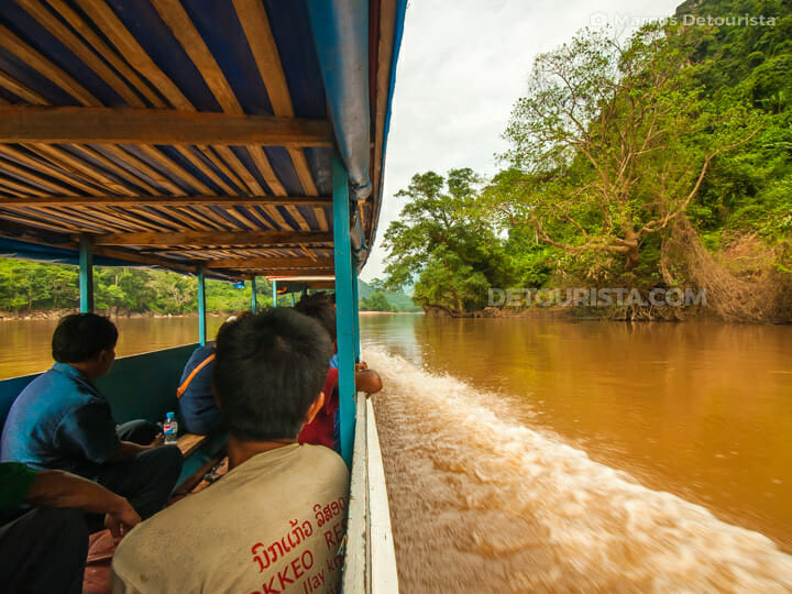 Nong Khiaw to Muang Ngoi boat ride, in Laos