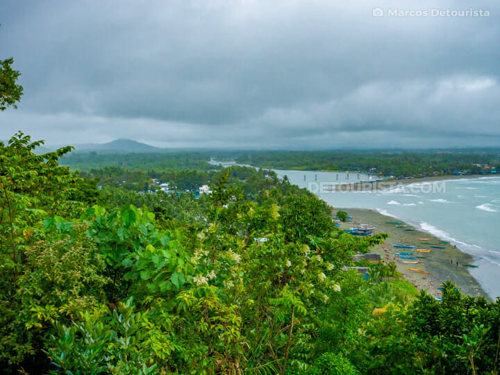Overlooking Baler from Ermita Hill, in Baler, Aurora, Philippines