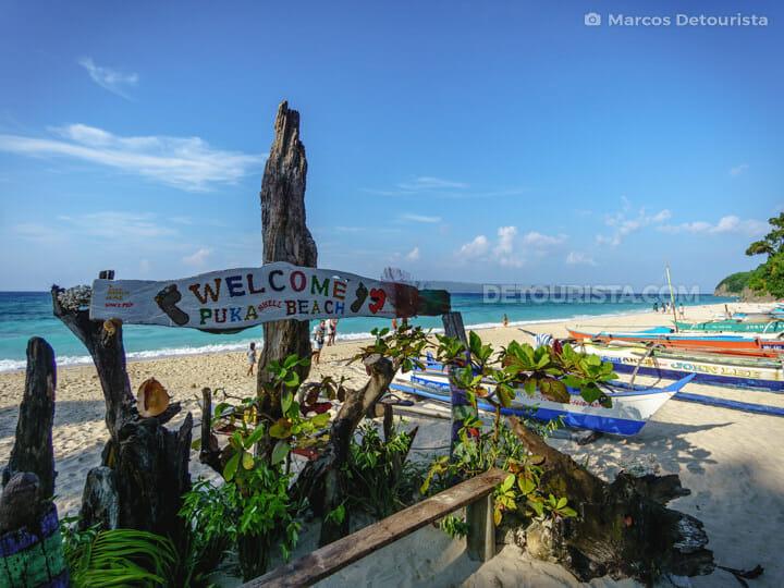 Puka Shell Beach, in Boracay, Malay, Aklan, Philippines
