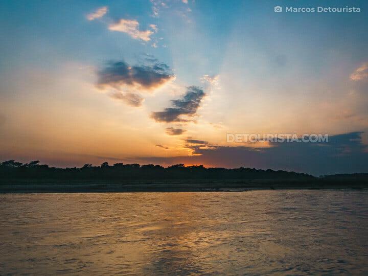 Rapti River sunset, Chitwan