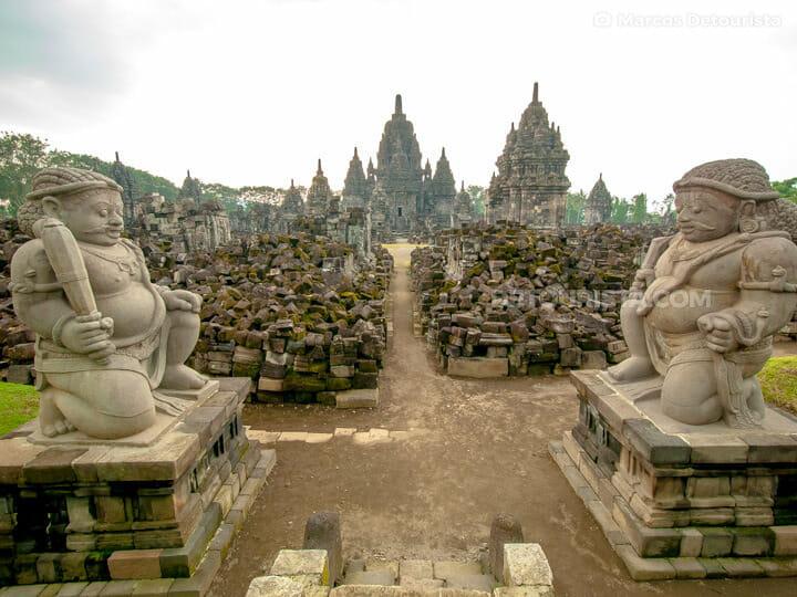 Sewu Temple in Prambanan Temple Complex, Yogyakarta, Java, Indon