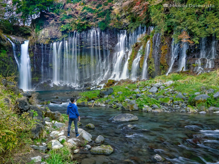 Shiraito Waterfall near Mount Fuji, Japan