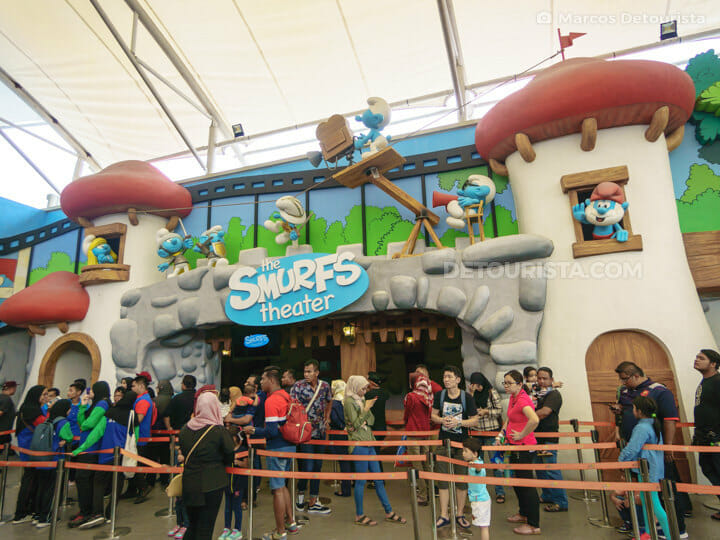 Smurfs Theater at MAPS Theme Park, in Ipoh, Malaysia