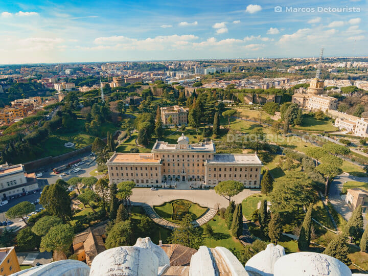 Vatican City view from St. Peter's Basilica