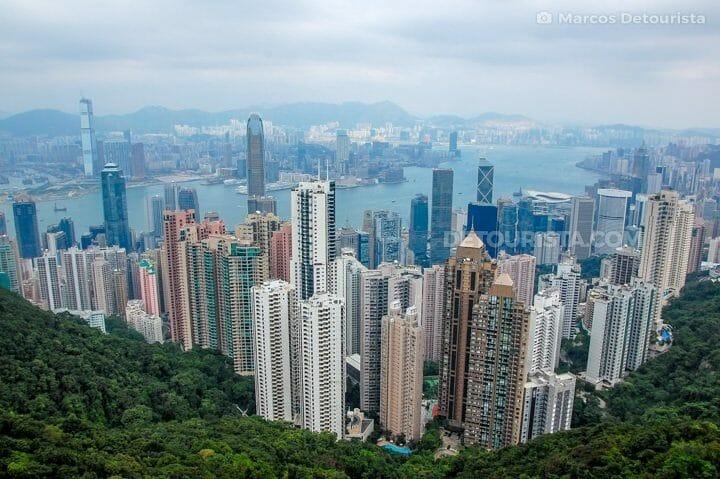 Victoria Peak, Hong Kong skyline
