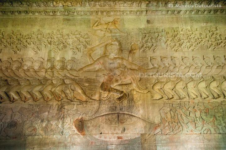 Angkor Wat wall relief